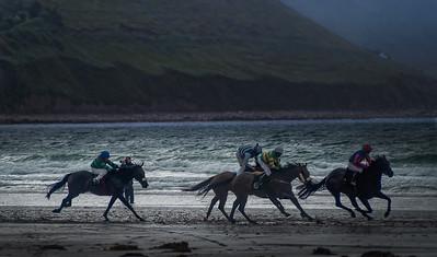 Horse Racing  on a Kerry beach