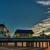 The Pleasure Pier at dawn on Galveston Island.