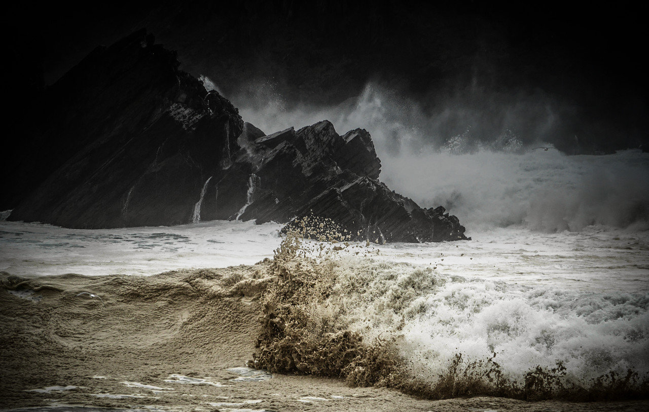 Stormy weather in the Dingle Peninsula