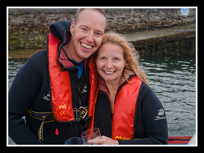 Seamus Hennessy from Cork proposed to his girlfriend Michelle Dinn from St. John's, Newfoundland, Canada on a Fungie th Dolphin boat/swim trip  .. of course Michelle accepted