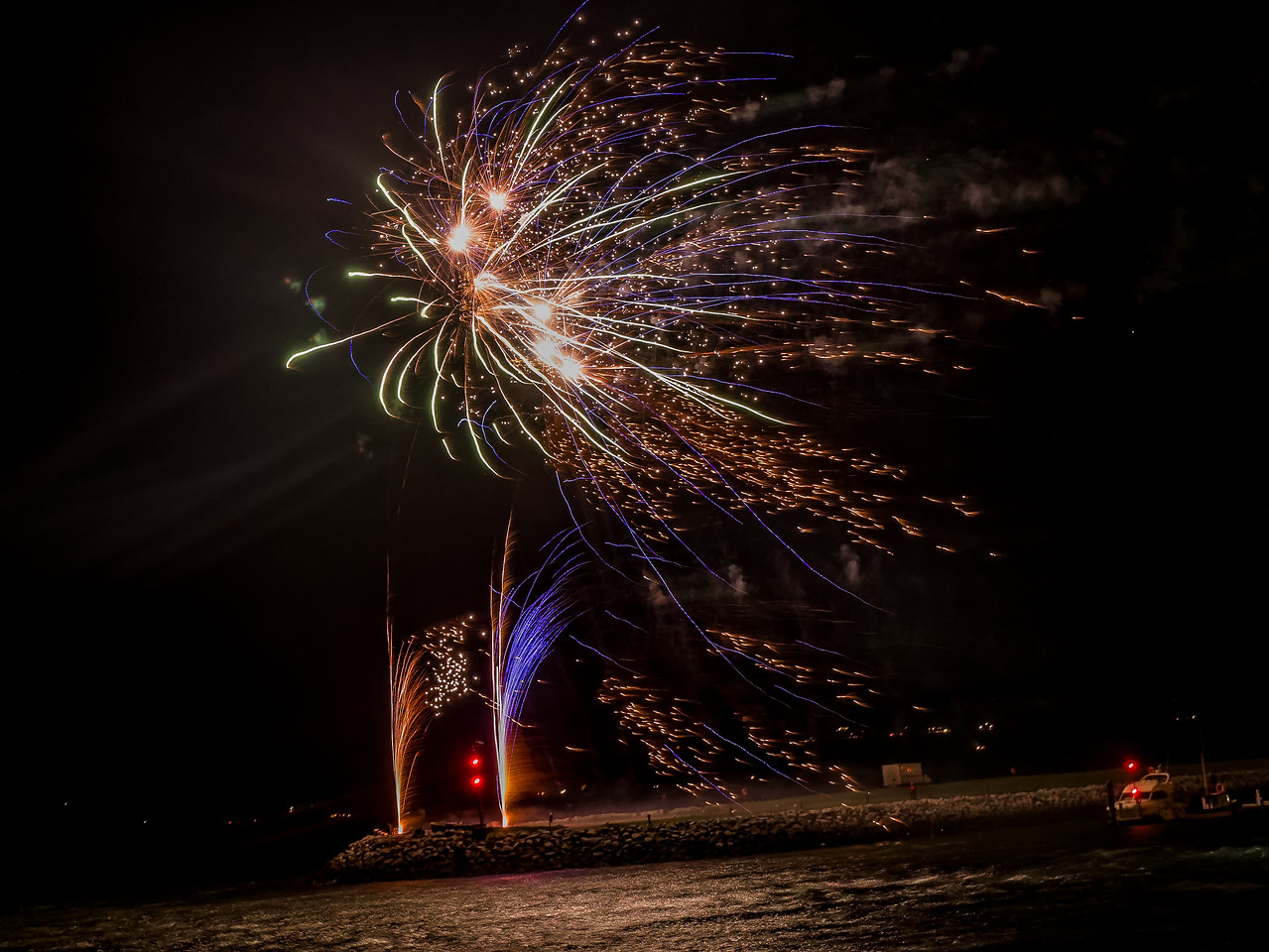 Dingle Ireland had an amazing show of Fireworks last night . Happy New Year to everybody