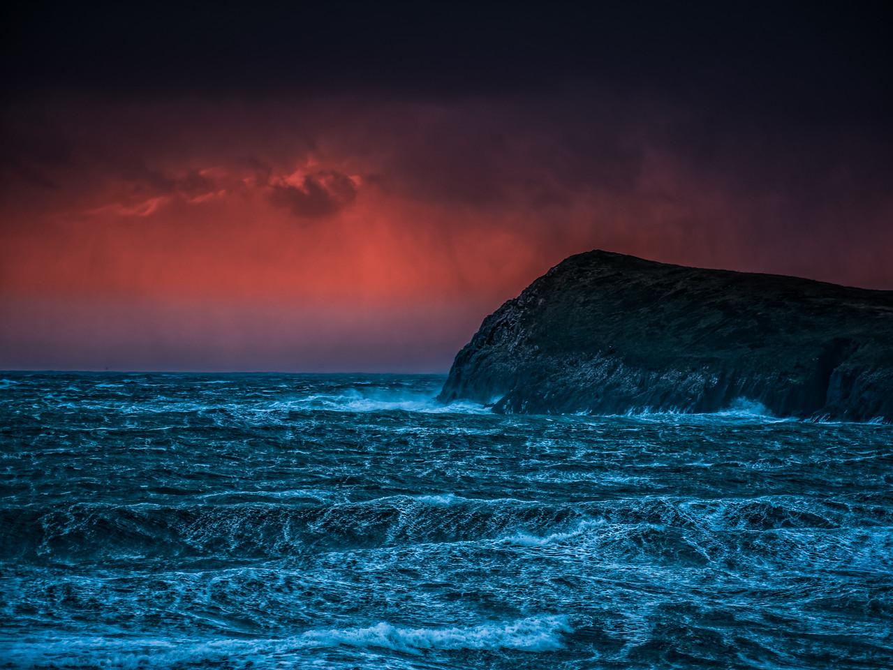 Sunset on a stormy Dingle Peninsula
