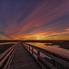 Sunrise over the Boardwalk at Cattail Marsh, Beaumont, Texas