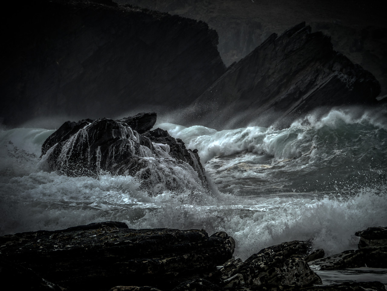 April 14th 2013 - Stormy weather in the Dingle Peninsula.... Photo Taken at Clogher Beach