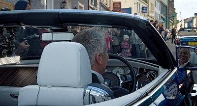 Matt Le Blanc from the US sitcom show drives a £400,000 Mercedes down main street Dingle Co Kerry last Saturday