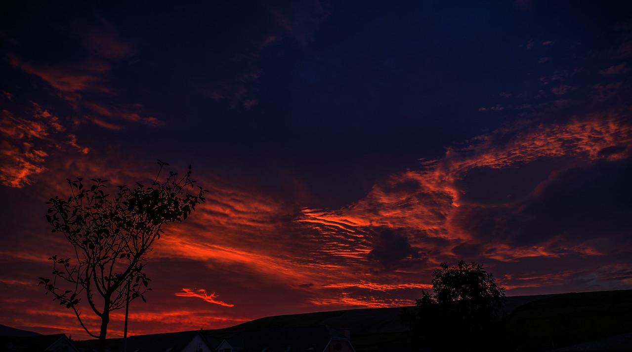 A September Sunrise outside my house