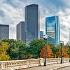 Fall Colors at Sabine Street Bridge, Houston, Texas