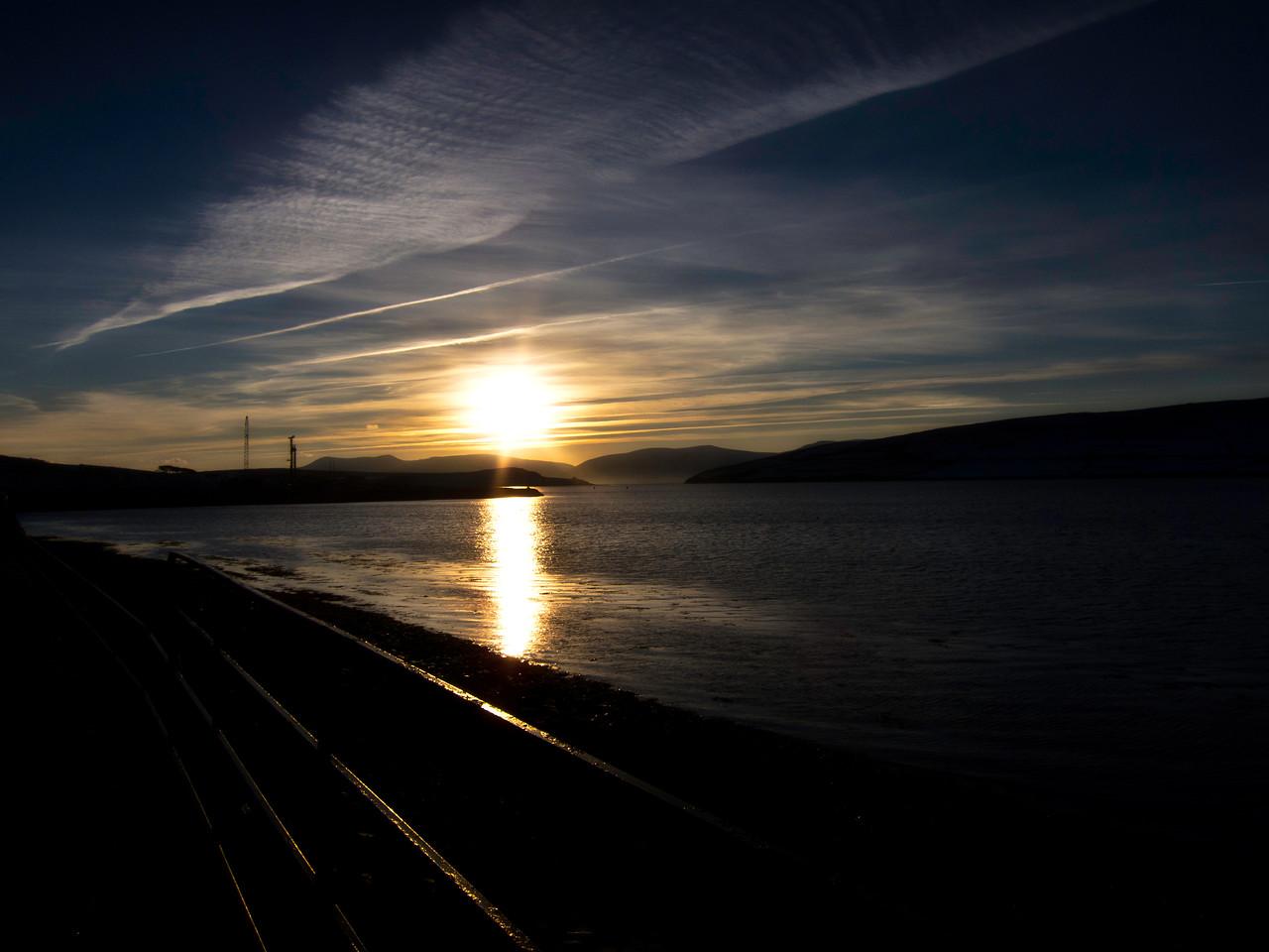 Early Christmas morning Dingle Pier Co Kerry Ireland