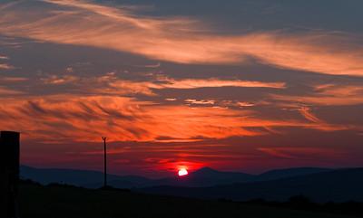 Glorious sunset in the Dingle Peninsula