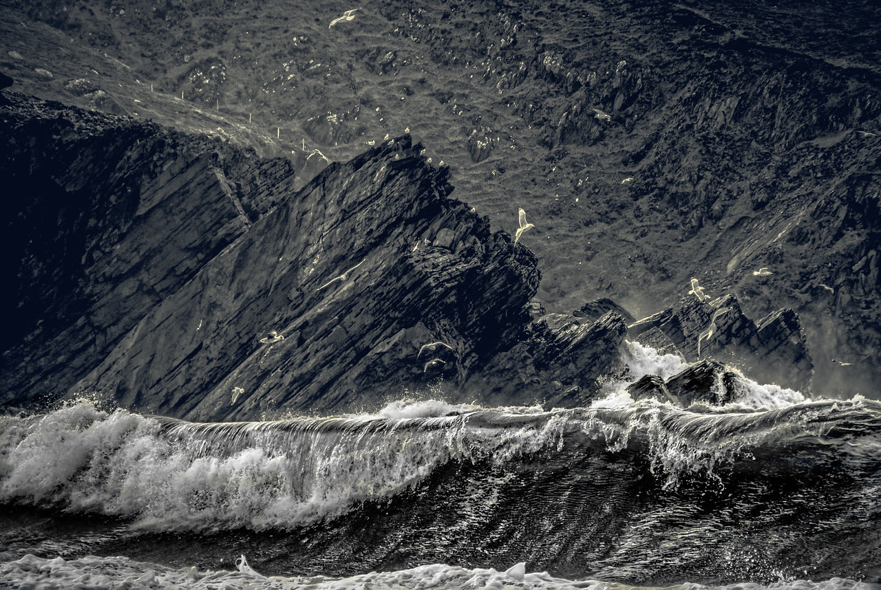 Big waves in the Dingle Peninsula