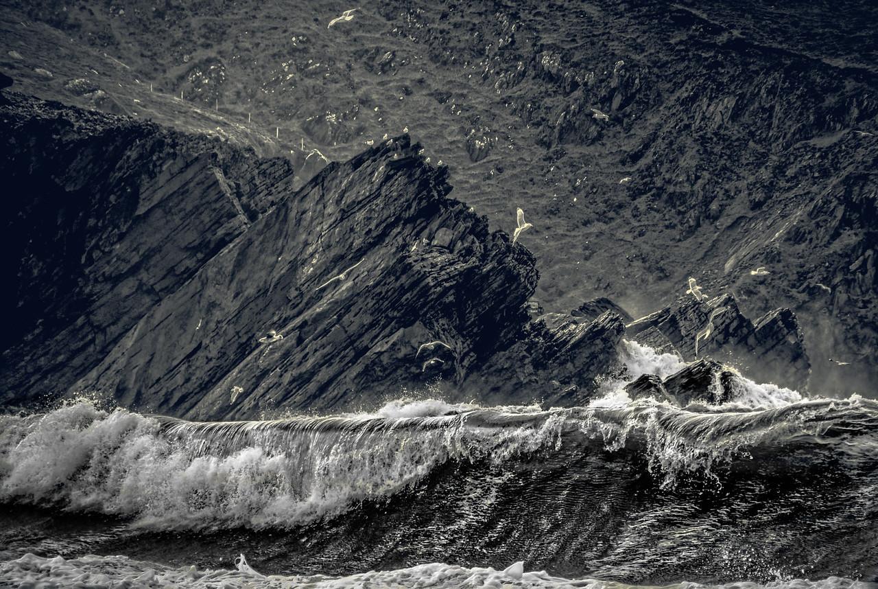 Big waves in the Dingle Peninsula