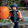 August 31, 2008.<br /> Chance isn't sure what to think about the Jack O'Lantern.