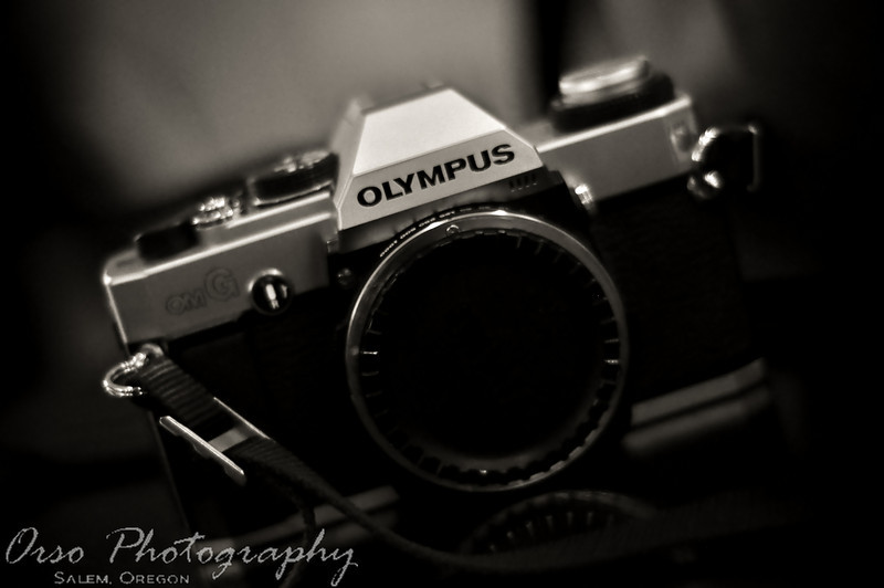 "Look dad!! its an antique!! just kidding, i have always had a fascination with old (give or take a an 80's camera being old) but not digital cameras, i really liked this camera when i saw it, and decided to snap a picture of it!! i did the b&w in my ""in camera editing software"" on my D90, just for fun and thought it turned out nicely! Hope you enjoy!!<br /> <br /> Gabe"