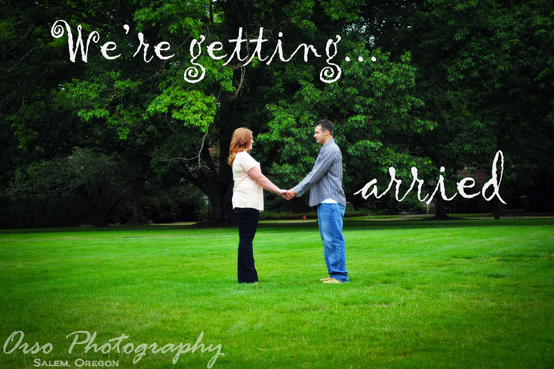 Saturday, September 17, 2011.<br /> <br /> I took the engagement photos for my niece today in Corvallis, Oregon. It turned out to be a fun afternoon with lots of great photos. Here is one of them.