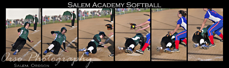 Thursday, March 18, 2010<br /> <br /> Gabe and I went to watch another Salem Academy softball game and here is a sequence of shots Gabe captured, at the right time... Nothing like being ready to go and at the right place, at the right time! This seems to look better in a collage than individual shots.