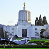 April 4, 2011<br /> <br /> I took this photo the other day and I decided to post it as a daily photo. We have been having a lot of rain in Oregon and it has been difficult to find nice days to go out and take photos. This is Oregon's State Capitol building, in Salem.