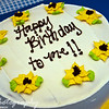 August 9, 2009.<br /> <br /> We celebrated my sister-in-law's birthday today, even though her 'real' birthday is tomorrow. She ended up getting her own cake, and this is what it said on the top. This ice cream cake was awesome! Happy Birthday Becca!! You are one year closer to the big 40! :D