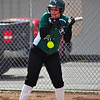 "5/8/10<br /> <br /> Bottom of the 3rd, bases loaded, Number 14 Jessie Kropf for the Salem Academy Crusaders, takes a real ""Gut Buster"" for the team."