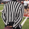 Friday, October 7, 2011<br /> <br /> Friday night High School Football. Salem Academy played Santiam Christians and I managed to take this shot before the game started, while the captains met with the other two refs.