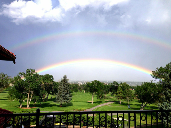 Enjoying the Great View and a Surprise Double Rainbow -- 08/08/14