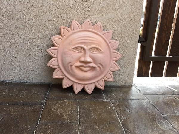 Terra Cotta Sun Face -- 04/22/15