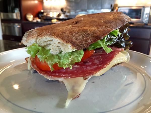 Italian Meats On Ciabatta Bread -- 10/17/15