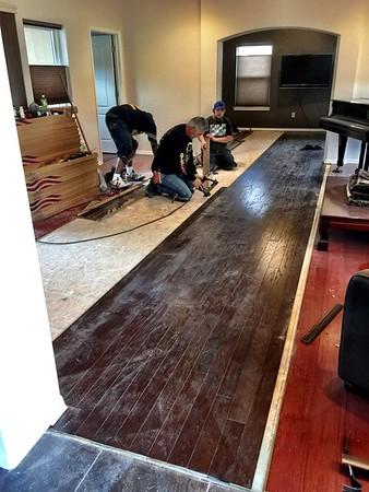 Floor Replacement Begins -- 01/09/15