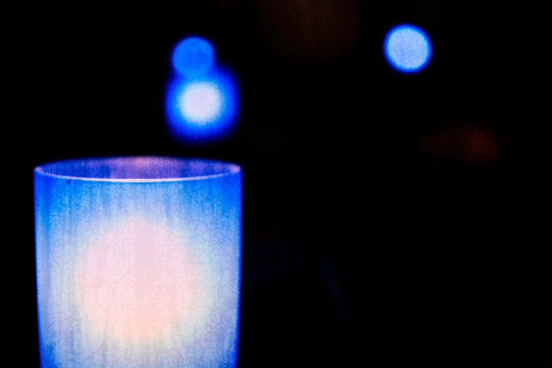 table candle at concert