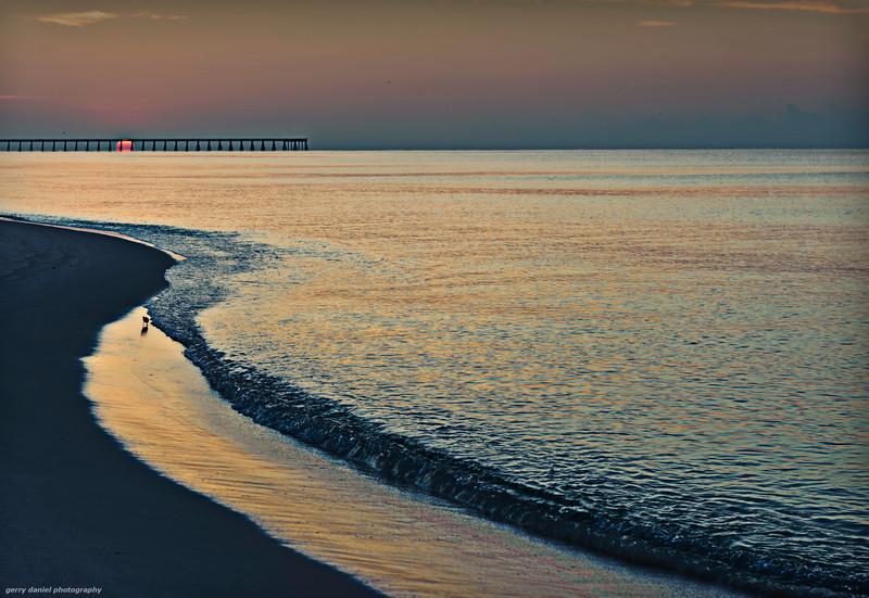 morning at navarre beach, florida