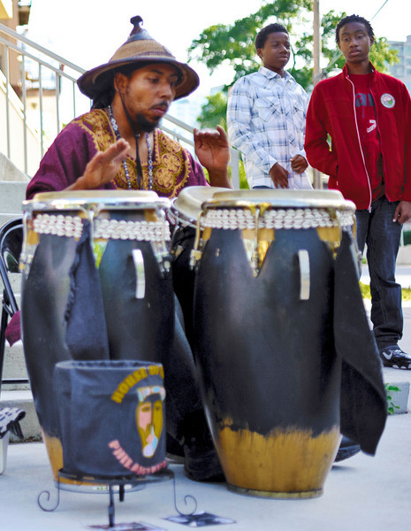 rhythm in the city, on a corner in Atlanta, GA