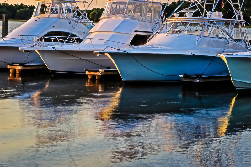 the marina near sunset, Seabrook Island, South Carolina