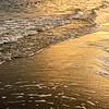along the golden shore at sunset