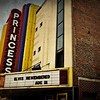 """Elvis Remembered"" - marquee at the Princess Theatre, photographed in Decatur, AL"