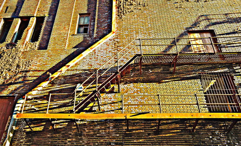 fire escape on The Lyric, Birmingham, Alabama