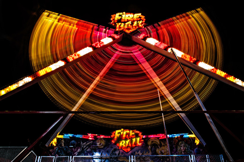 the arc of the fire ball, Alabama State Fair