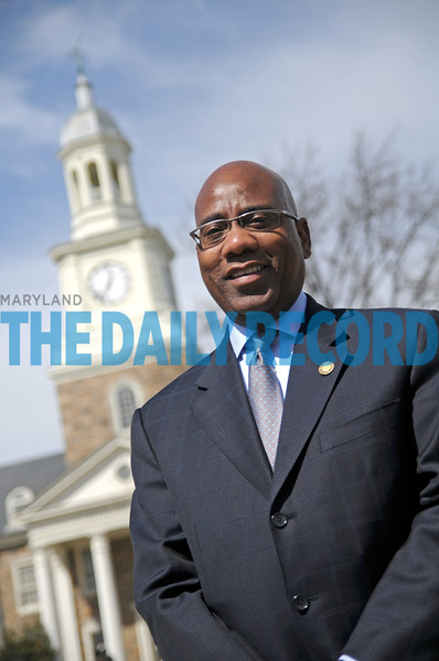 03.28.11 BALTIMORE, MD-  Dr. David Wilson, President of Morgan State University. Portraits on campus for Influential Marylanders. (The Daily Record/Maximilian Franz).