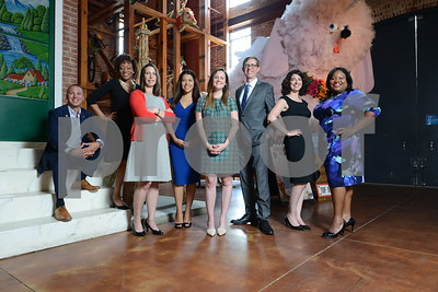 7-25-16 BALTIMORE, MD- American Visionary Arts Museum Group from left- Cal Bowman, Jasmine Leigh, Laura Latta, Catalina Rodriguez, Heather Arbogast, Josiah Dykstra, Amy Burke Friedman, Dionne Curbeam. (The Daily Record/Maximilian Franz)