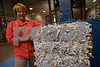 07.16.13 FREDERICK , MD- Mary Pat Kulina, President of All Shred, a Mobile Document Destruction company based in Frederick. Photo of a truck unloading in their headquarters with Harold Boone, Driver Operator, dumping the shreaded materials and compressing it to be sent out for recycling.  (Maximilian Franz/The Daily Record)
