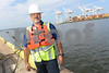 07.26.13 BALTIMORE, MD- Dave Guerra, President of Puente Technologies LLC, shown here at a job at the Dundalk Marine Terminal. (Maximilian Franz/The Daily Record)