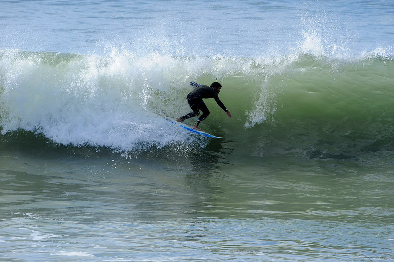 Ricky launching into a decent tube!
