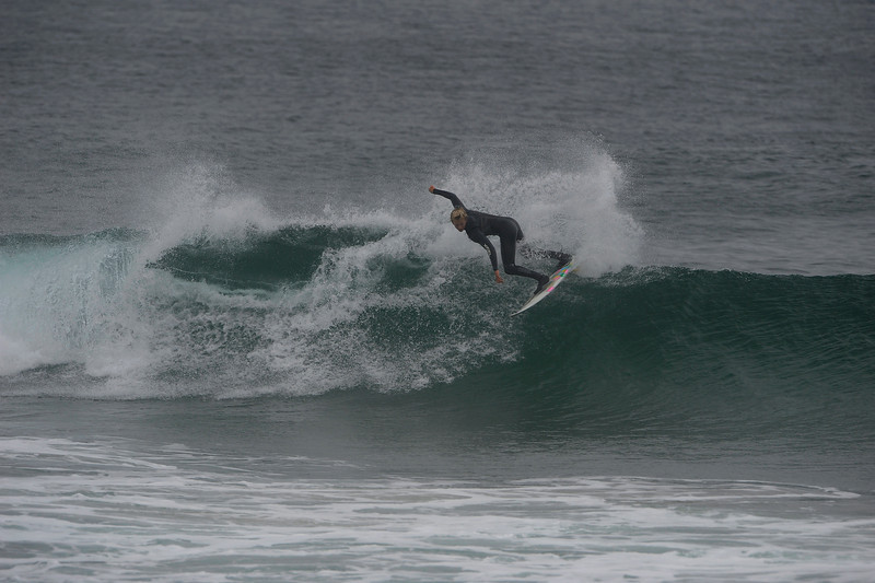 Young Grom David Ditmar ripping the bag open