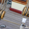 Detail of ropes and rigging on a boat