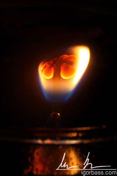 This is the wick of an oil based lamp shot with the 100mm macro lens.