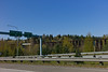On our way to the U District, this is the view of the trestle from I-405, the way we usually see it.