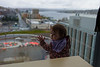 I'm sure the window washers will love this. Ellie checking the view.