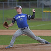 PETE BANNAN  DIGITAL FIRST MEDIA    Aston Knights <br /> Ryan Kester throws against Media in Intermediate EDCO baseball finals Tuesday at Buggy Field in Aston. Kester scored the only run in the game which tied the three game series.