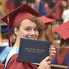 PETE  BANNAN-DIGITAL FIRST MEDIA           Noel  Katrina Prentice proudly shows of her new  Cardinal O'Hara diploma.