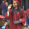 PETE  BANNAN-DIGITAL FIRST MEDIA           Lindsaw Jordan Crawford  is one of the 240  seniors to receive a diploma from Cardinal O'Hara  High School during commencement at the Mirenda Center at Neumann University  Wednesday morning.
