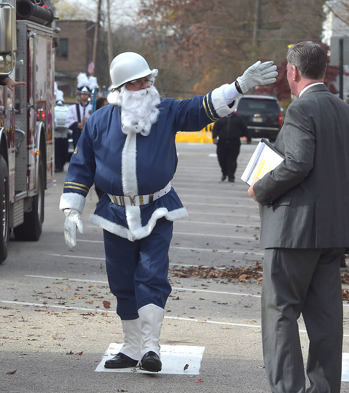 . A Blue Santa with Alden American Legion post 1000 was spotted in the Delaware County Veterans Day parade Monday.