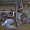PETE  BANNAN-DIGITAL FIRST MEDIA         Broomall-Newtown (17) Drew Santiller scores against Springfield in game two game Thursday at Thomas Field in Marple.